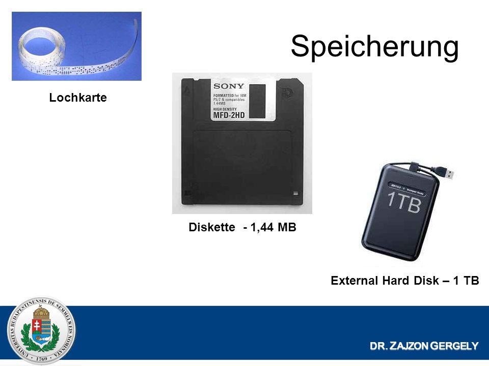 Speicherung Lochkarte Diskette - 1,44 MB External Hard Disk – 1 TB
