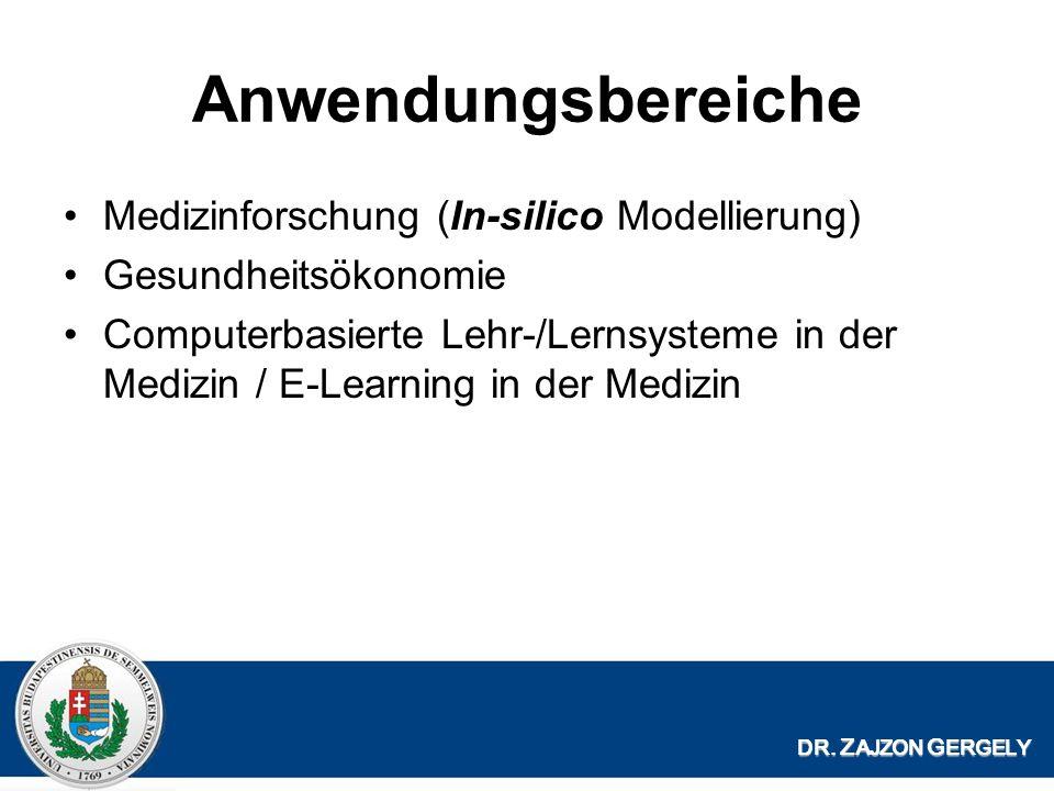 Anwendungsbereiche Medizinforschung (In-silico Modellierung)