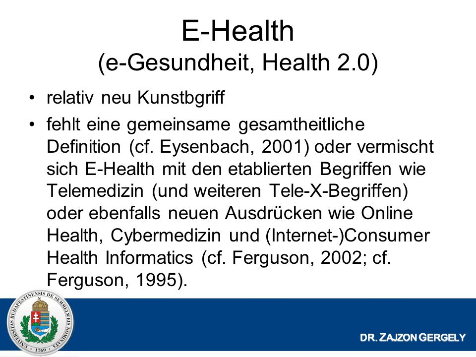 E-Health (e-Gesundheit, Health 2.0)