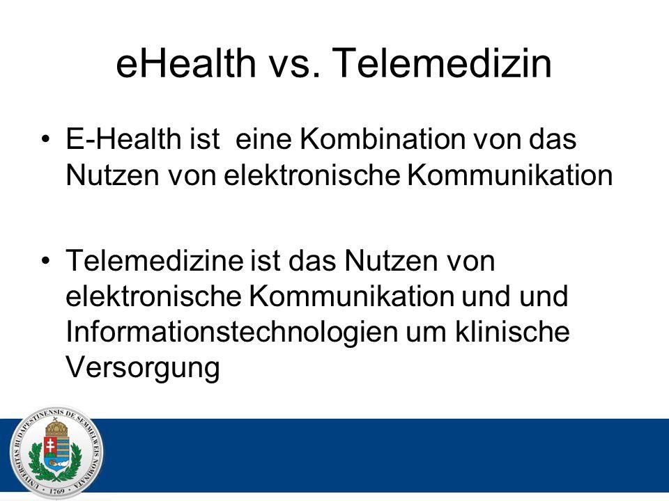 eHealth vs. Telemedizin