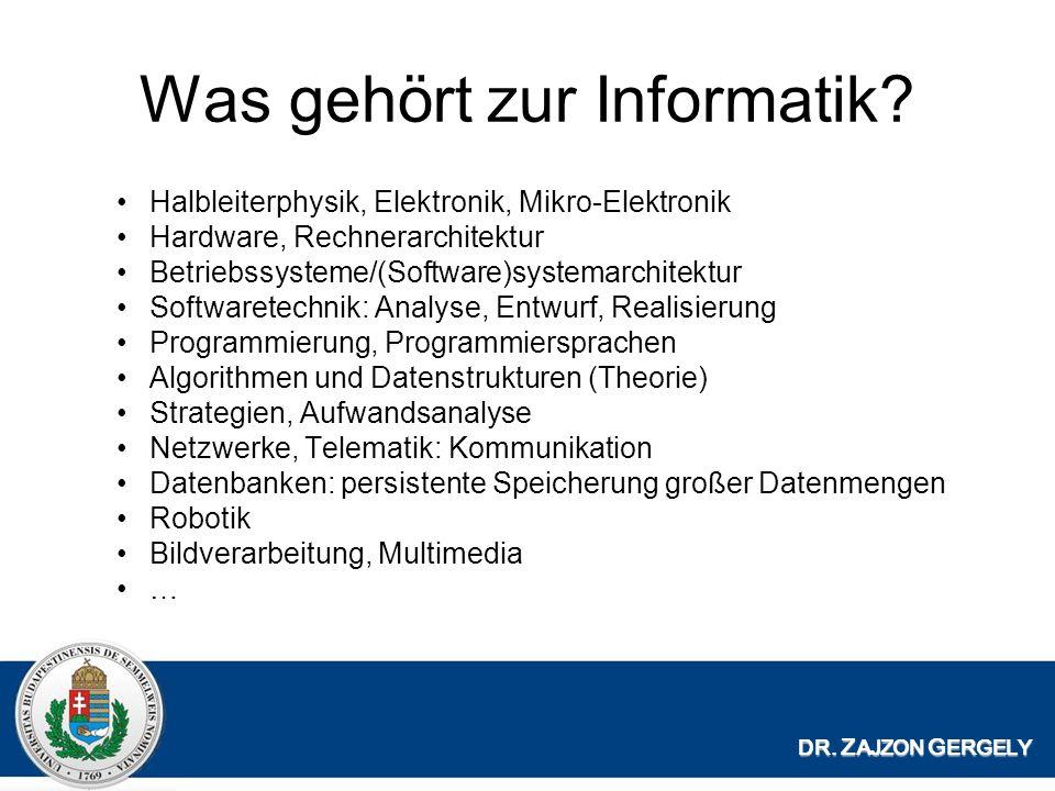 Was gehört zur Informatik