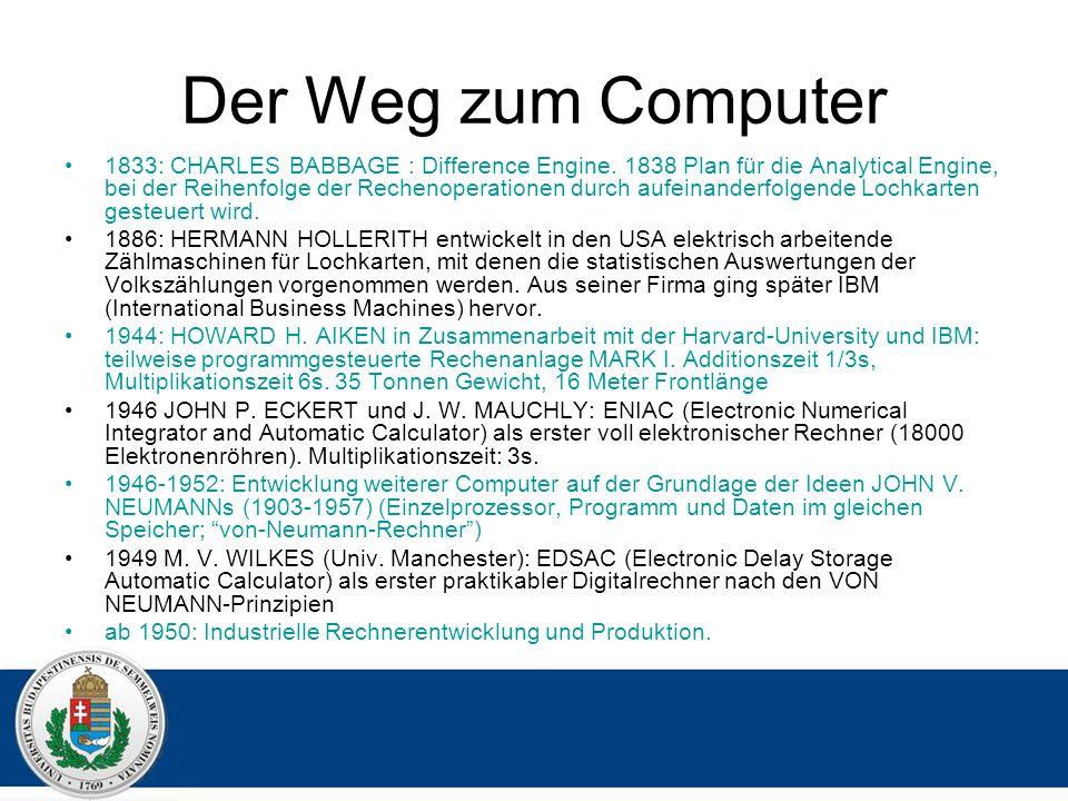 Der Weg zum Computer