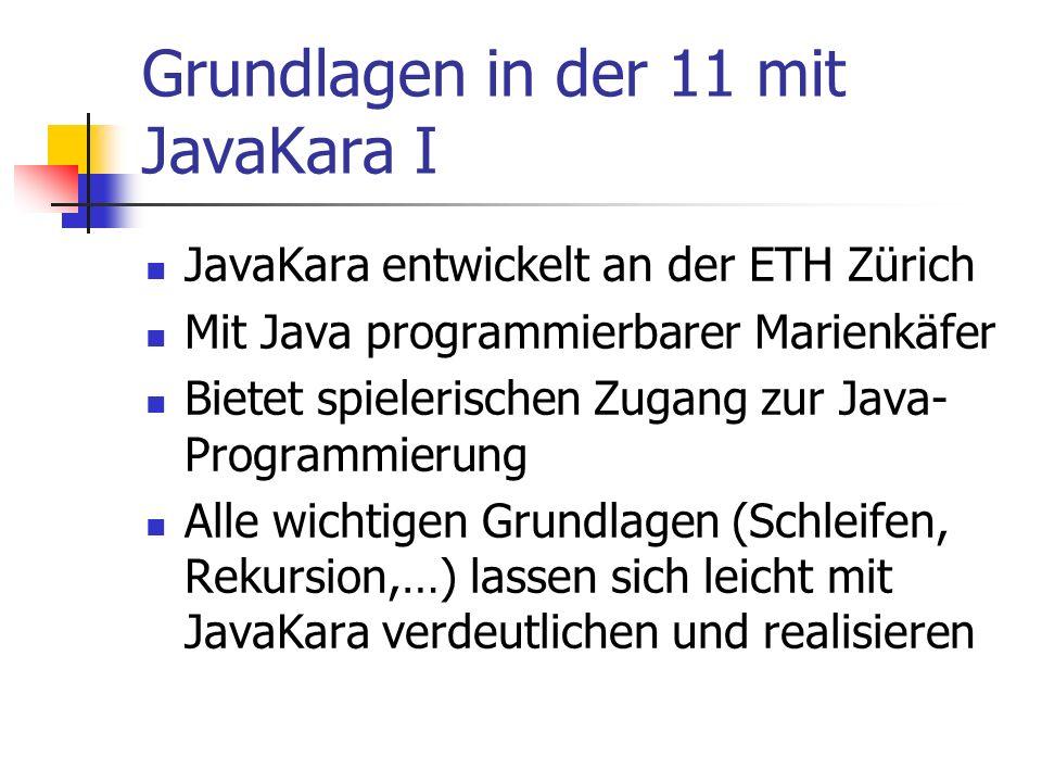Grundlagen in der 11 mit JavaKara I