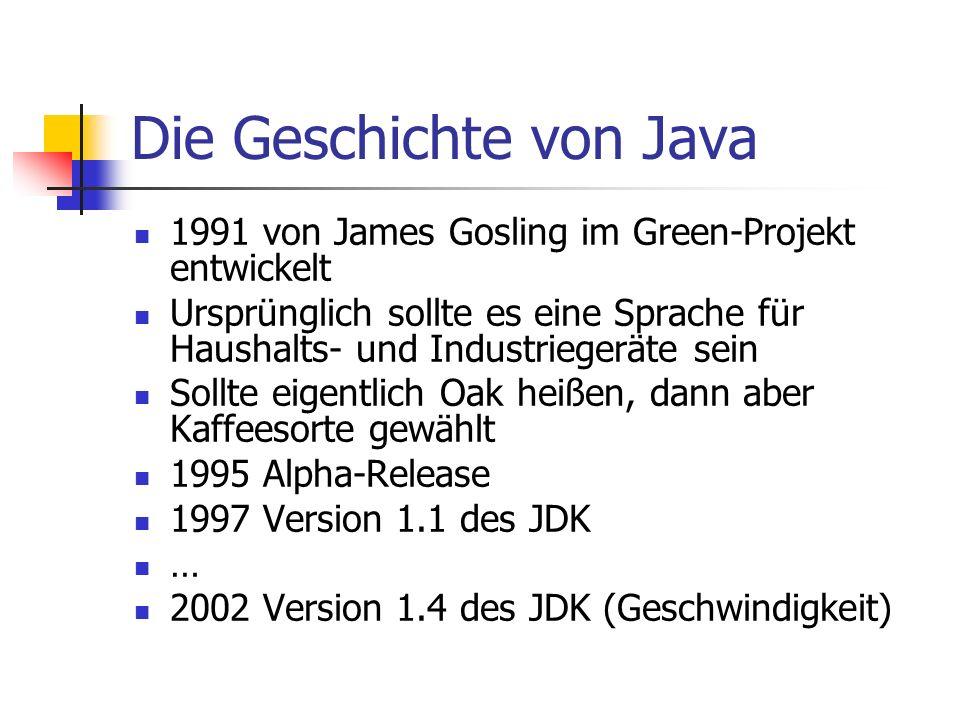 Die Geschichte von Java