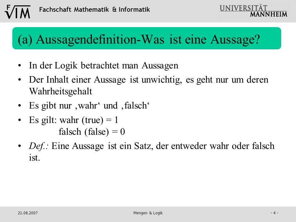 (a) Aussagendefinition-Was ist eine Aussage
