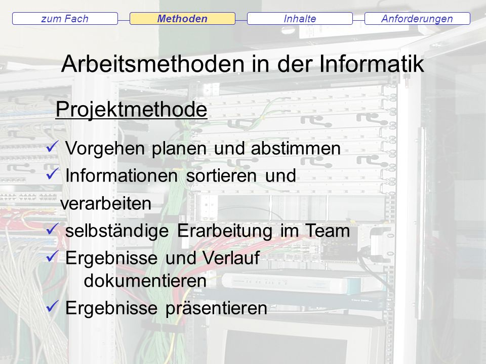 Arbeitsmethoden in der Informatik