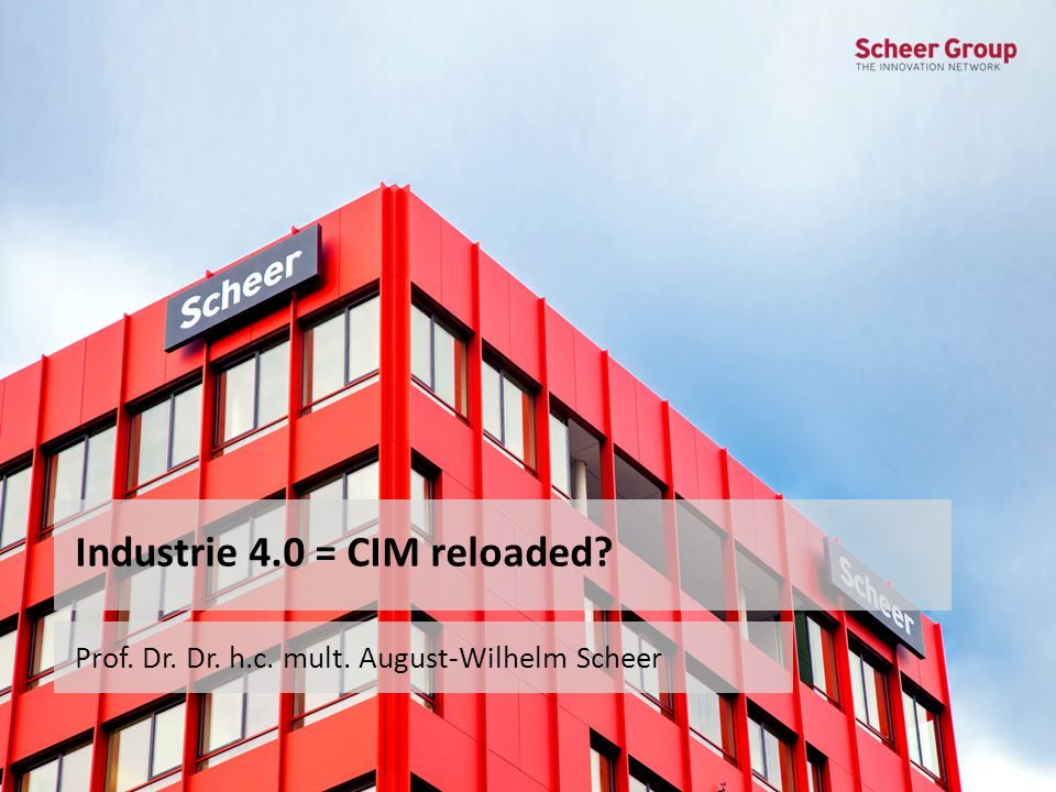 Industrie 4.0 = CIM reloaded