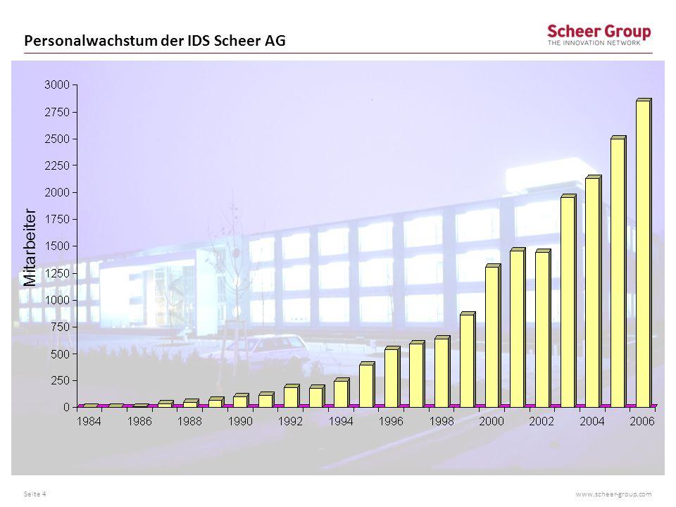 Personalwachstum der IDS Scheer AG