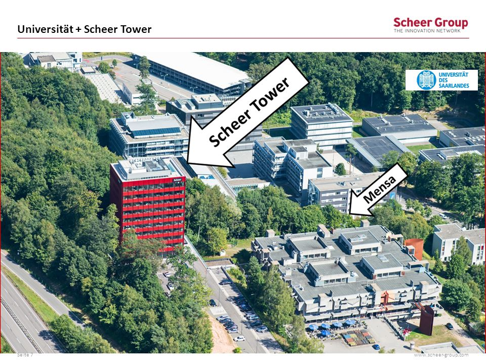 Universität + Scheer Tower