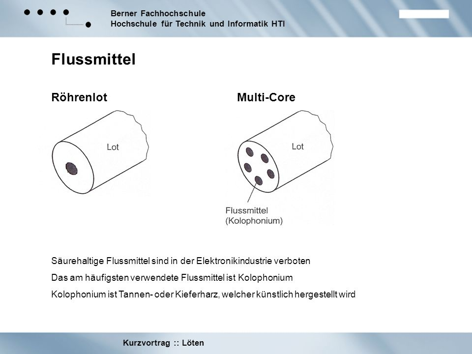 Flussmittel Röhrenlot Multi-Core