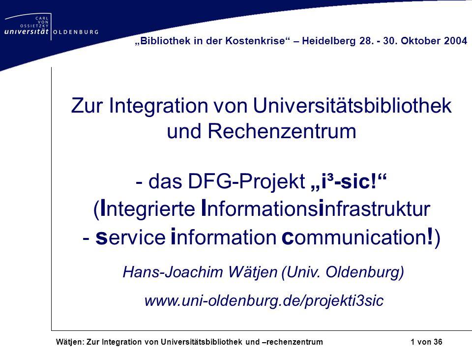 Hans-Joachim Wätjen (Univ. Oldenburg)