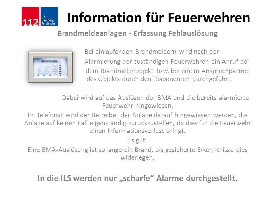 Information für Feuerwehren