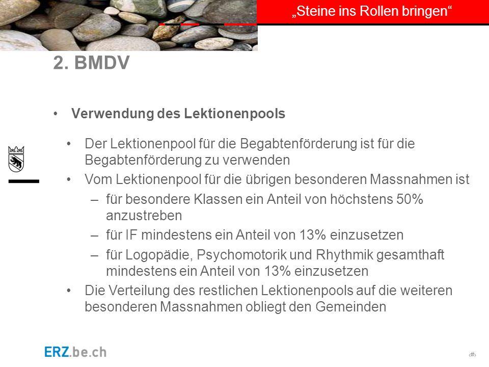 2. BMDV Verwendung des Lektionenpools