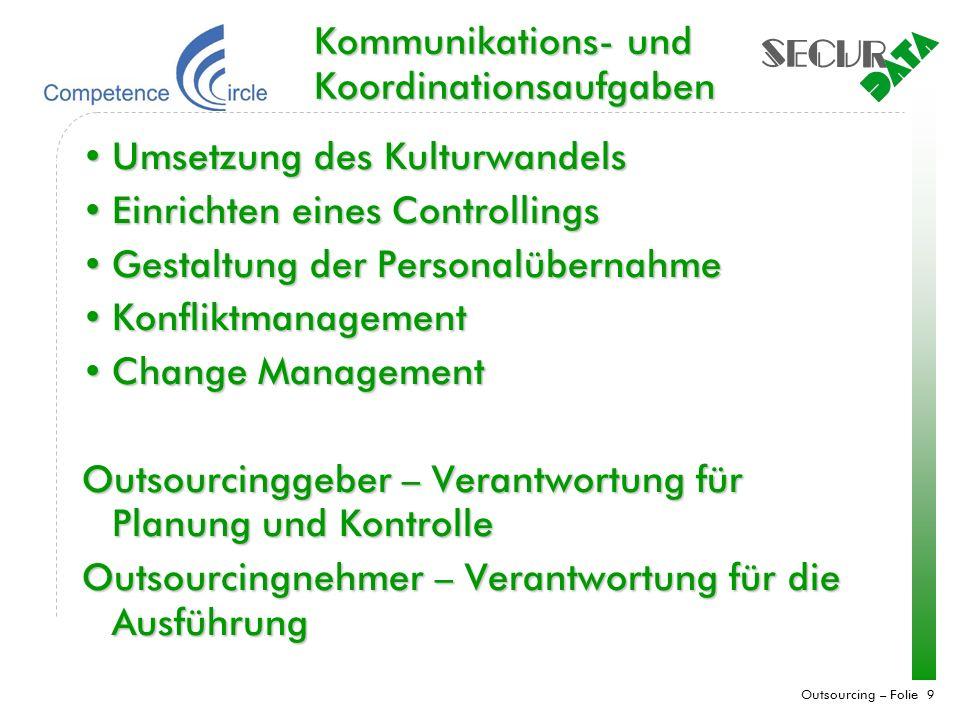 Kommunikations- und Koordinationsaufgaben