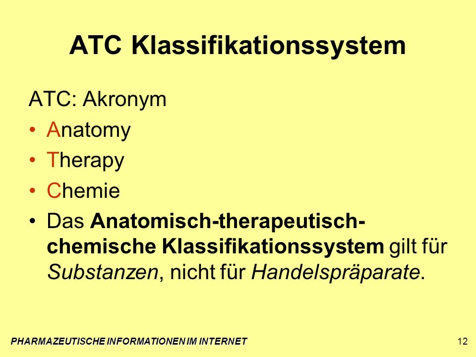 ATC Klassifikationssystem