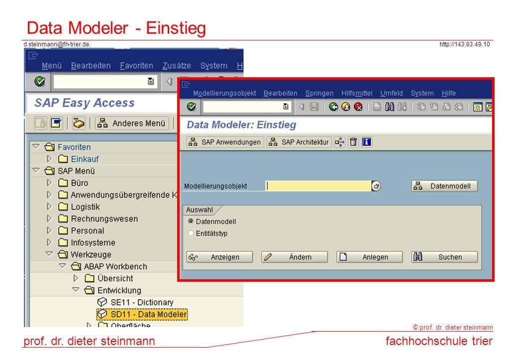 Data Modeler - Einstieg