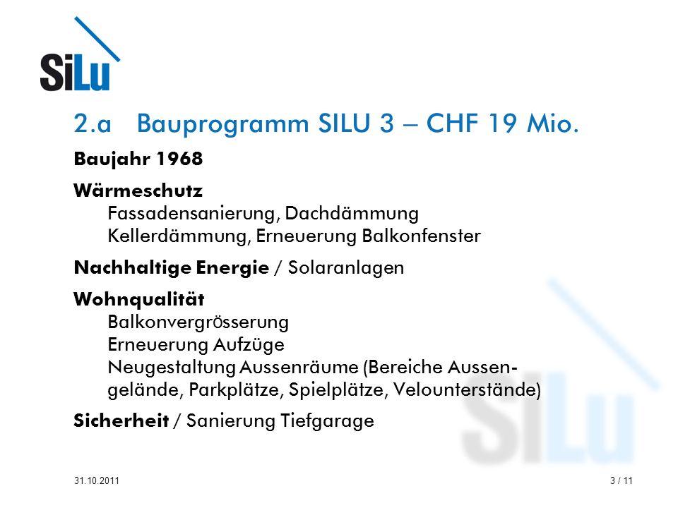 2.a Bauprogramm SILU 3 – CHF 19 Mio.