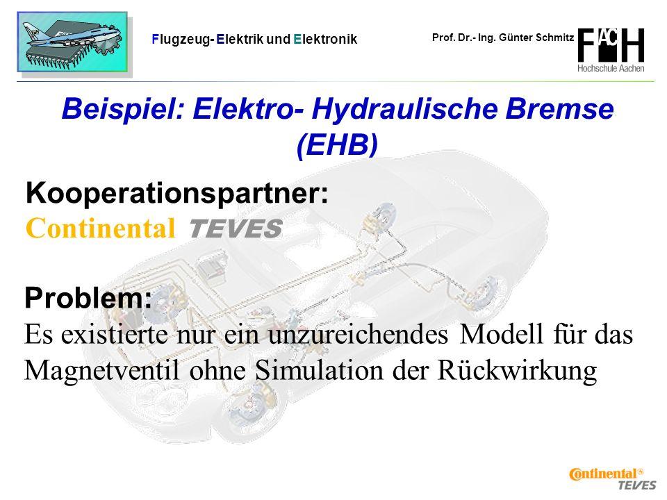 Beispiel: Elektro- Hydraulische Bremse (EHB)
