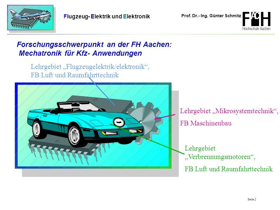 Forschungsschwerpunkt an der FH Aachen: Mechatronik für Kfz- Anwendungen