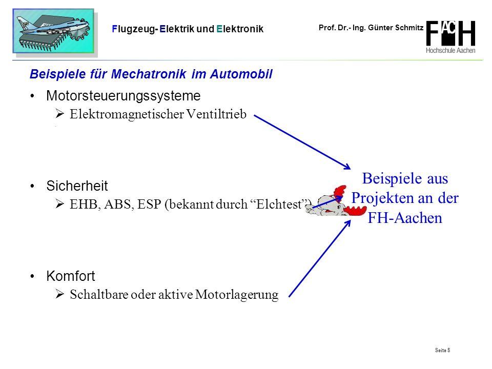 Beispiele für Mechatronik im Automobil