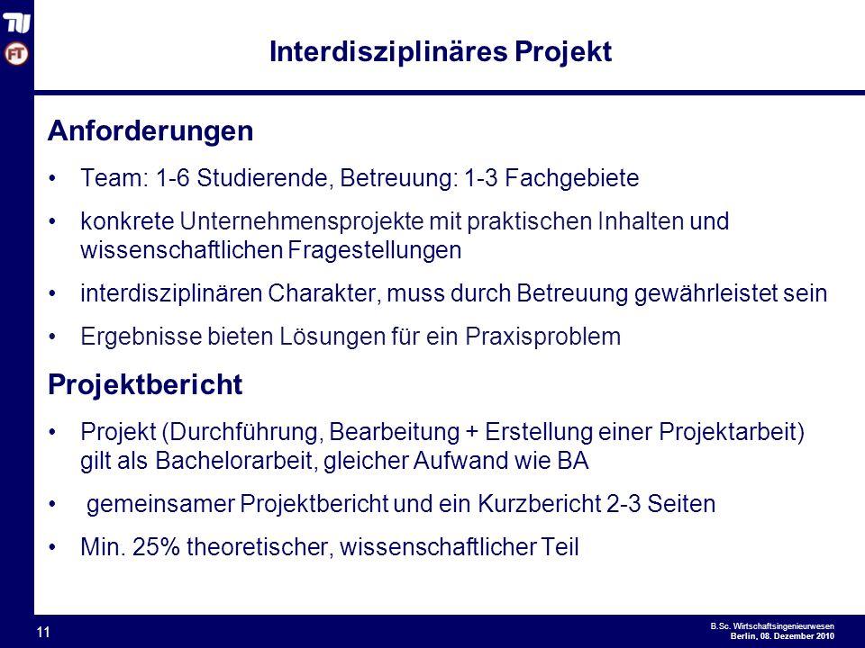Interdisziplinäres Projekt