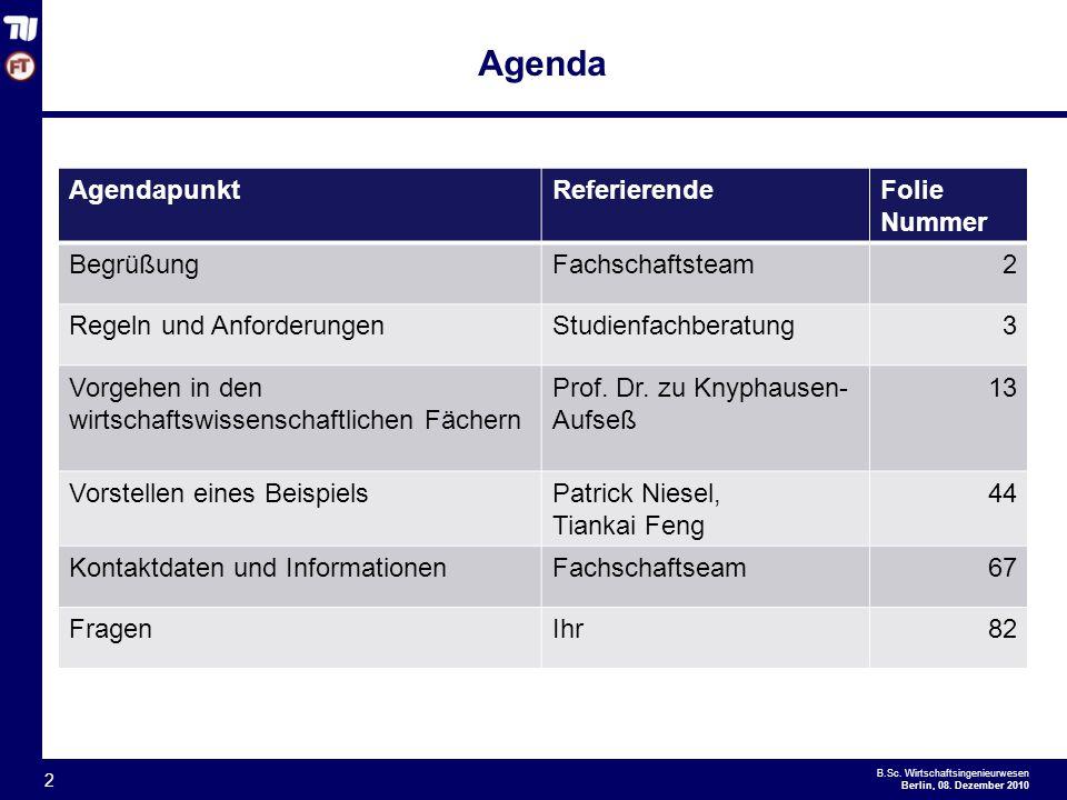 Agenda Agendapunkt Referierende Folie Nummer Begrüßung Fachschaftsteam