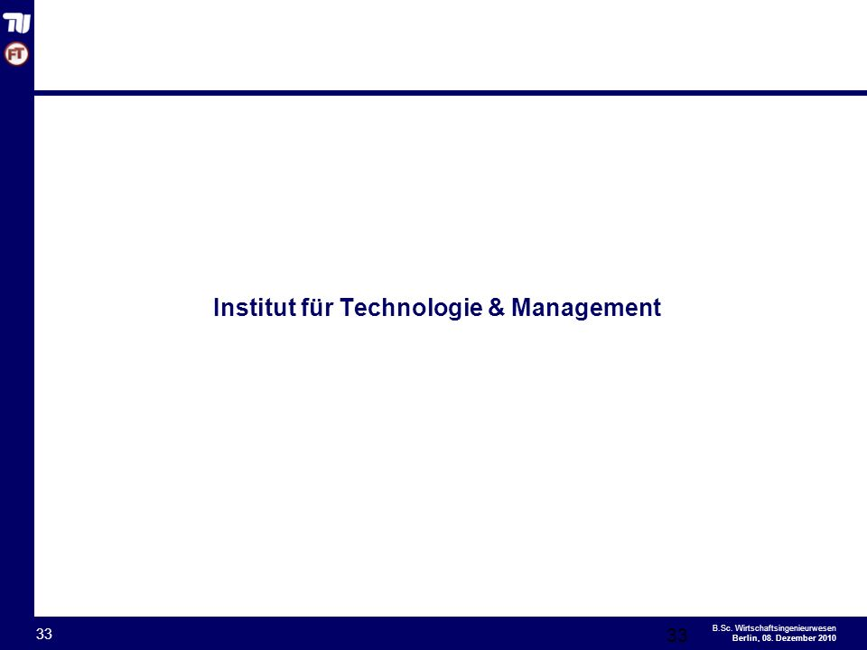 Institut für Technologie & Management