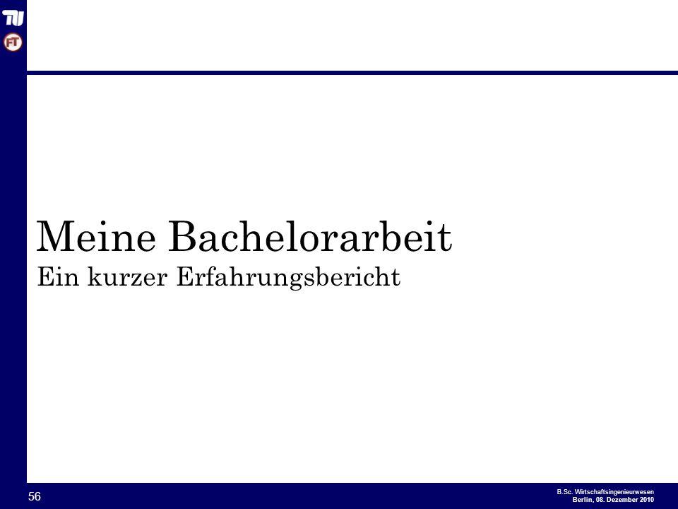 Meine Bachelorarbeit Ein kurzer Erfahrungsbericht
