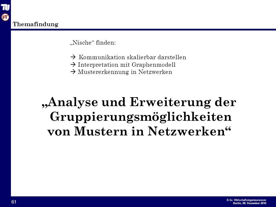 """""""Analyse und Erweiterung der"""