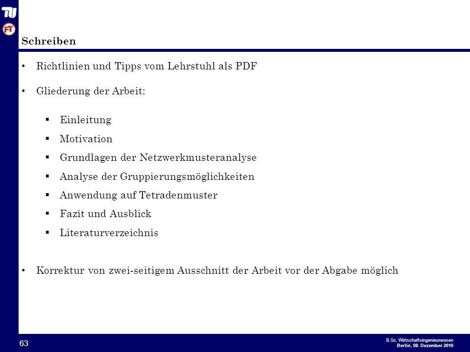 Schreiben Richtlinien und Tipps vom Lehrstuhl als PDF. Gliederung der Arbeit: Einleitung. Motivation.