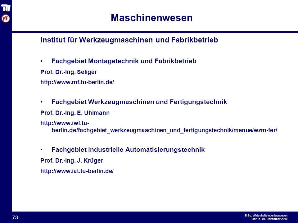 Maschinenwesen Institut für Werkzeugmaschinen und Fabrikbetrieb