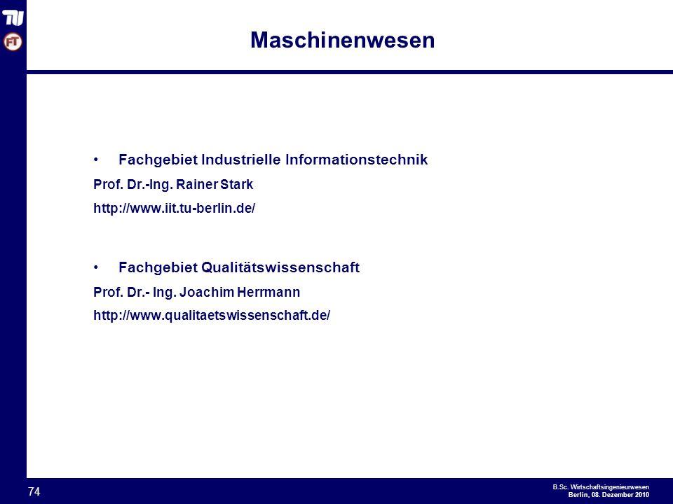 Maschinenwesen Fachgebiet Industrielle Informationstechnik
