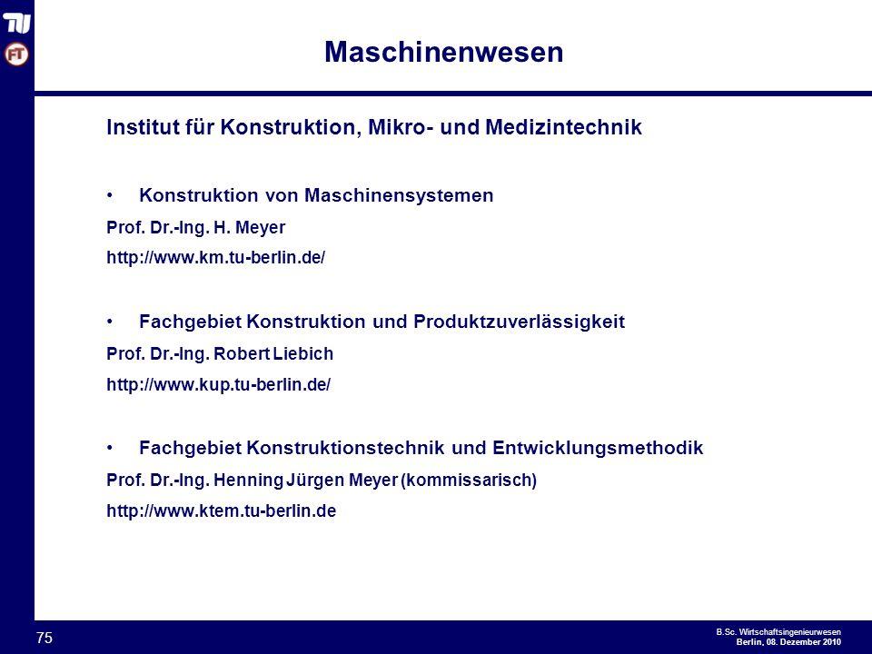 Maschinenwesen Institut für Konstruktion, Mikro- und Medizintechnik