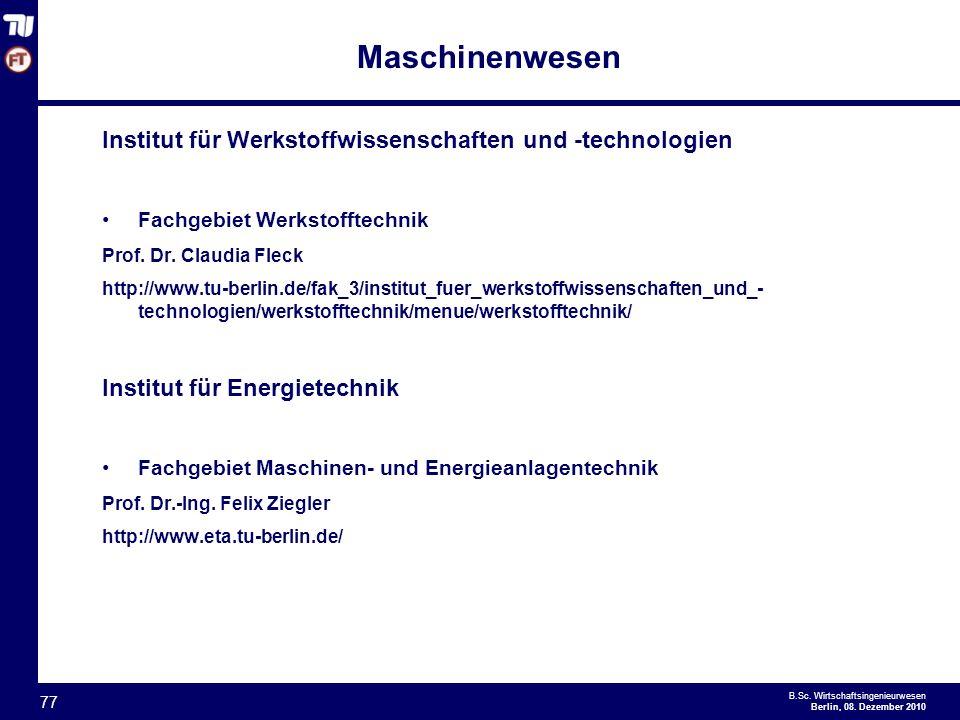 Maschinenwesen Institut für Werkstoffwissenschaften und -technologien