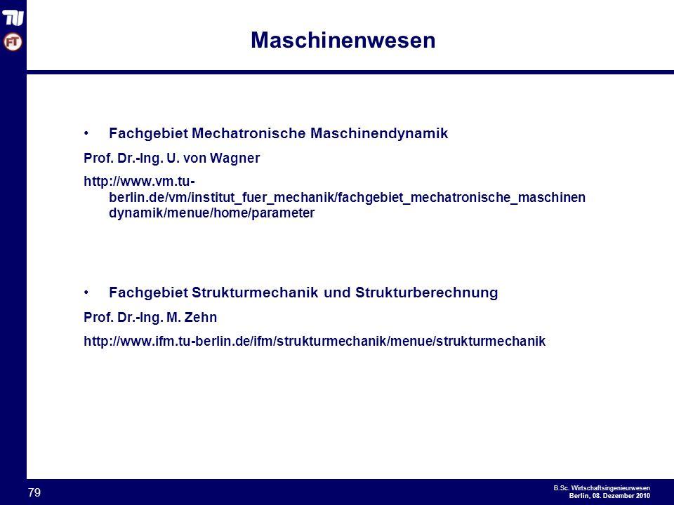 Maschinenwesen Fachgebiet Mechatronische Maschinendynamik