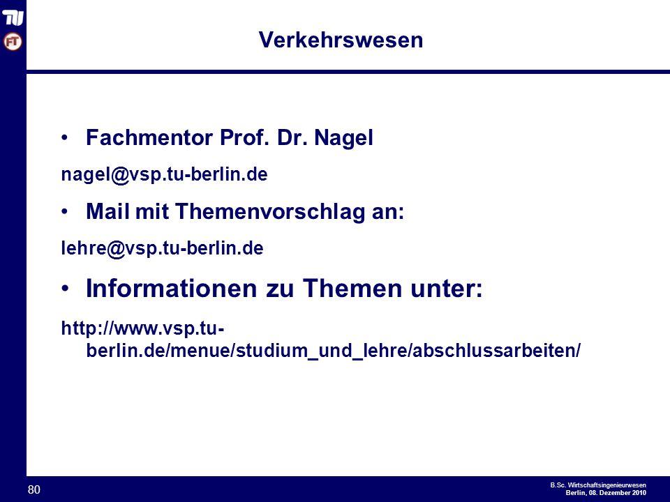 Informationen zu Themen unter: