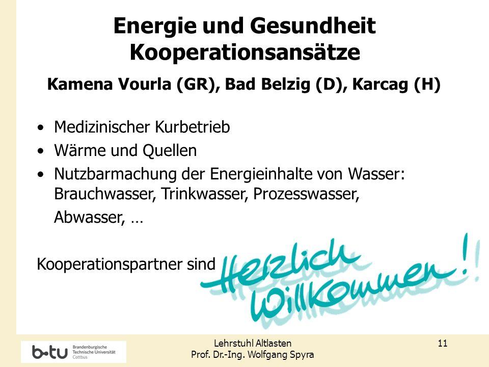 Energie und Gesundheit Kamena Vourla (GR), Bad Belzig (D), Karcag (H)
