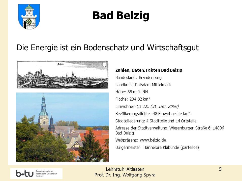 Bad Belzig Die Energie ist ein Bodenschatz und Wirtschaftsgut