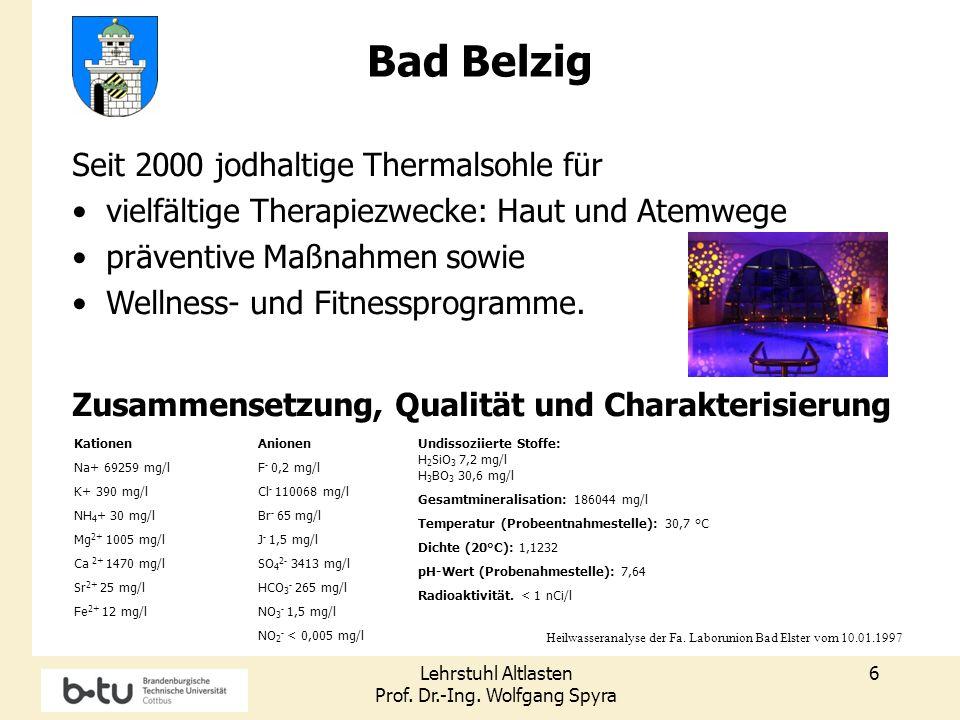Bad Belzig Seit 2000 jodhaltige Thermalsohle für