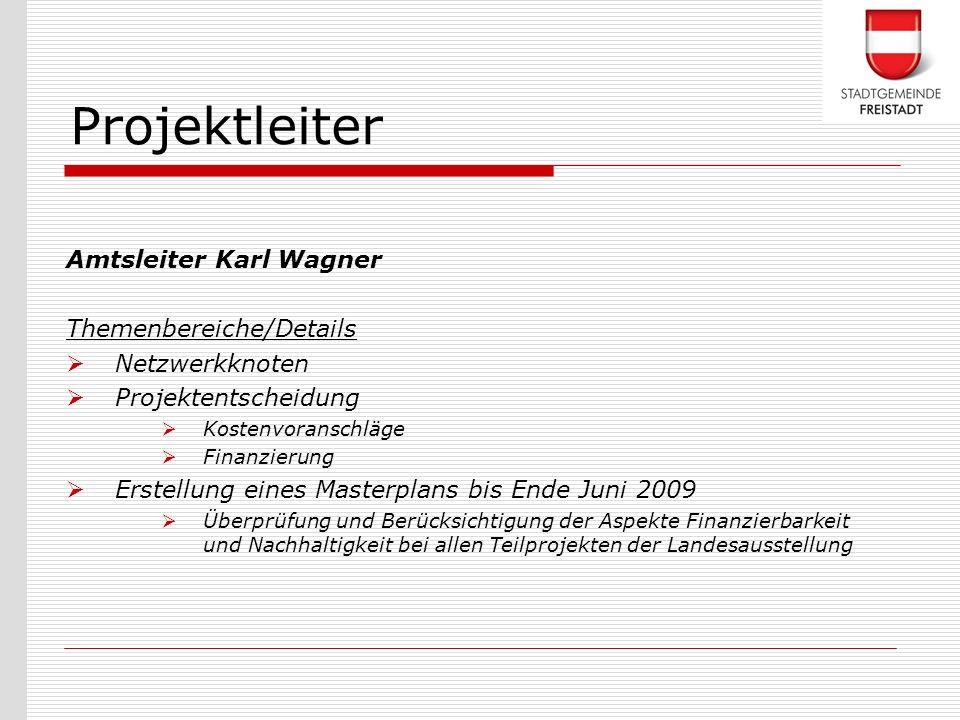 Projektleiter Amtsleiter Karl Wagner Themenbereiche/Details