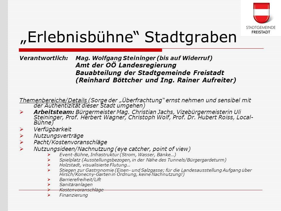 """""""Erlebnisbühne Stadtgraben"""
