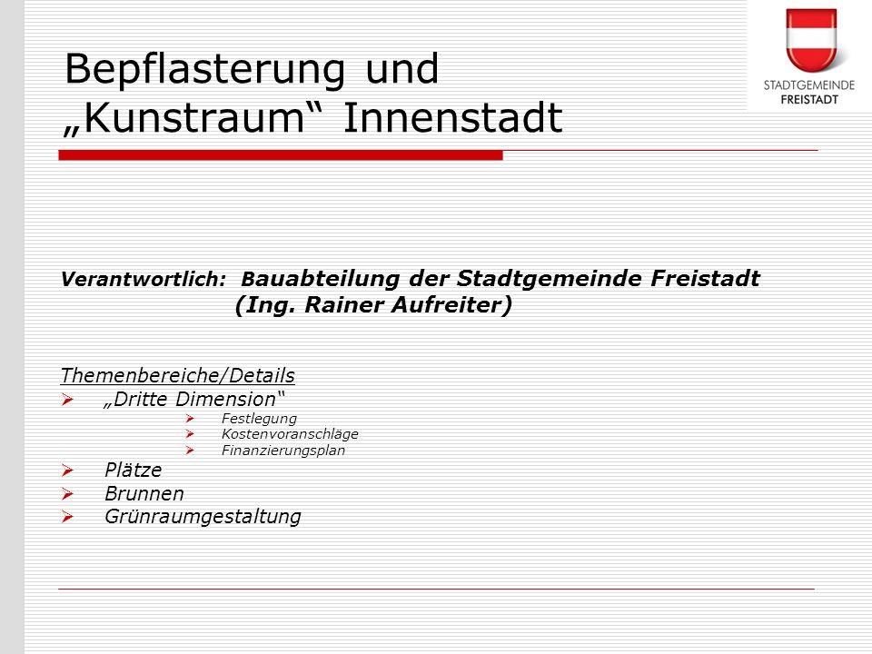 """Bepflasterung und """"Kunstraum Innenstadt"""