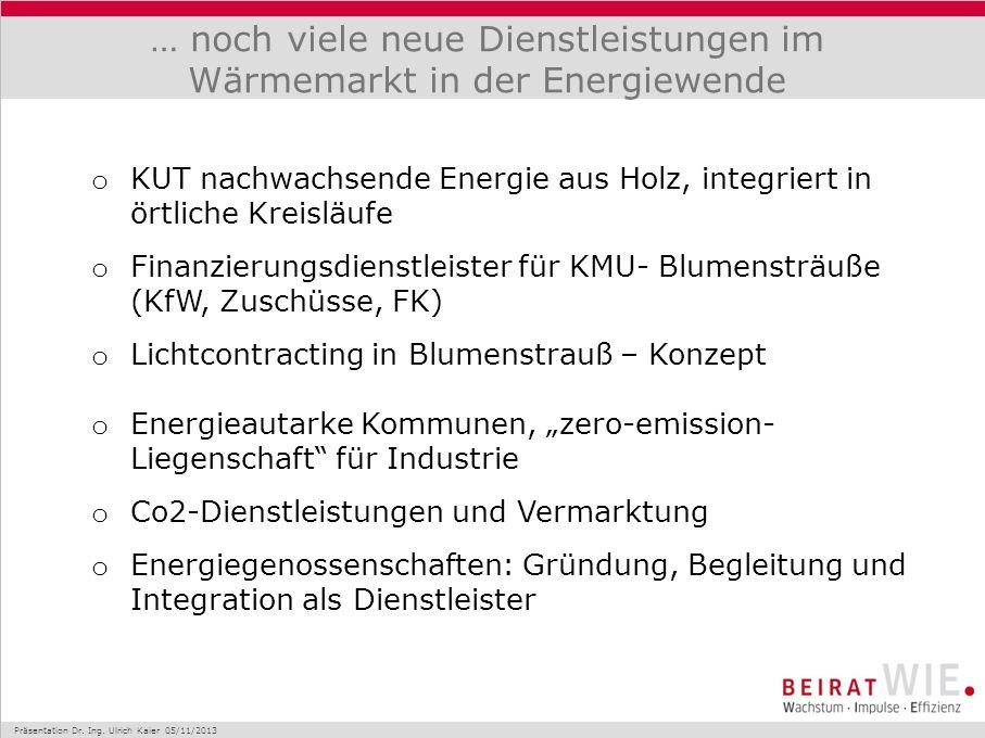 … noch viele neue Dienstleistungen im Wärmemarkt in der Energiewende