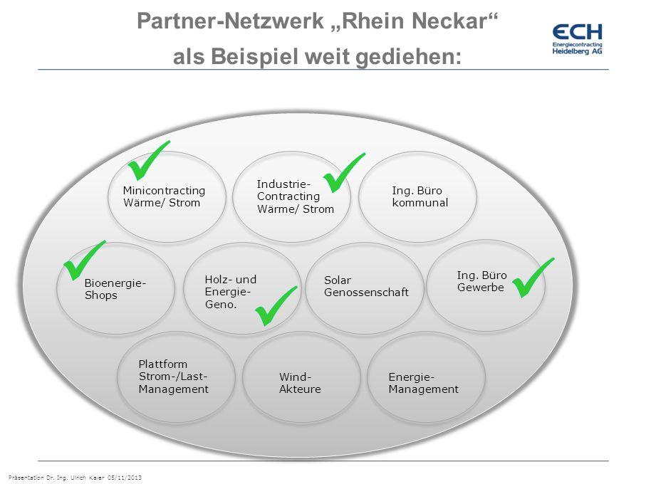 """Partner-Netzwerk """"Rhein Neckar als Beispiel weit gediehen:"""