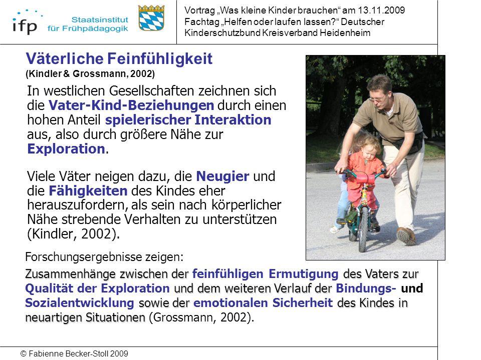 Väterliche Feinfühligkeit (Kindler & Grossmann, 2002)