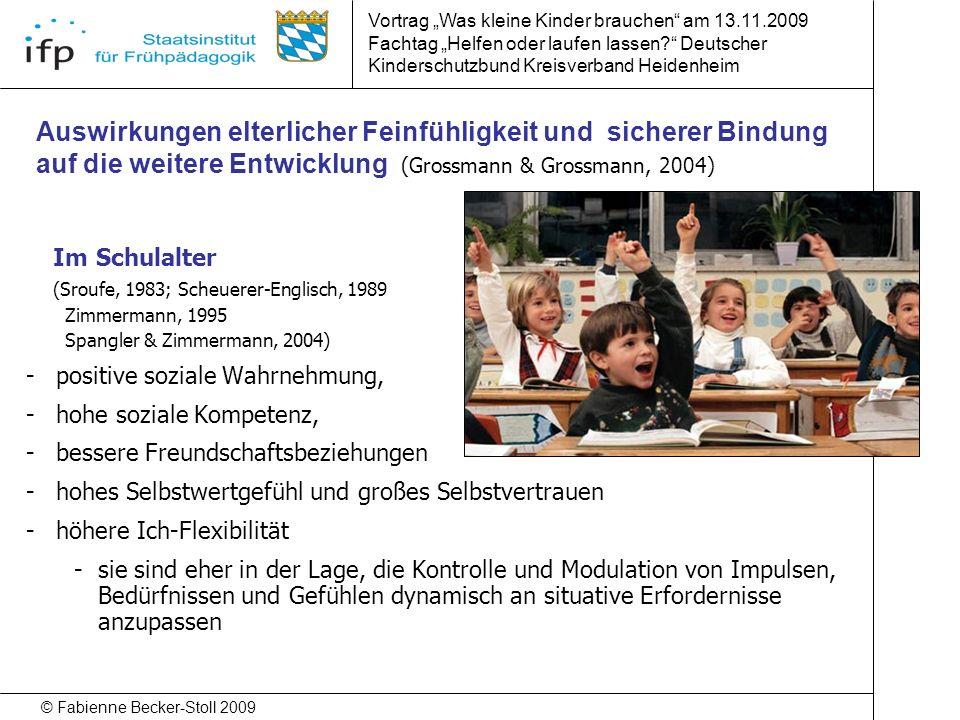 """Vortrag """"Was kleine Kinder brauchen am 13.11.2009"""