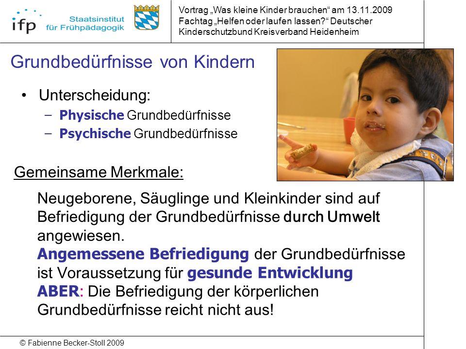 Grundbedürfnisse von Kindern