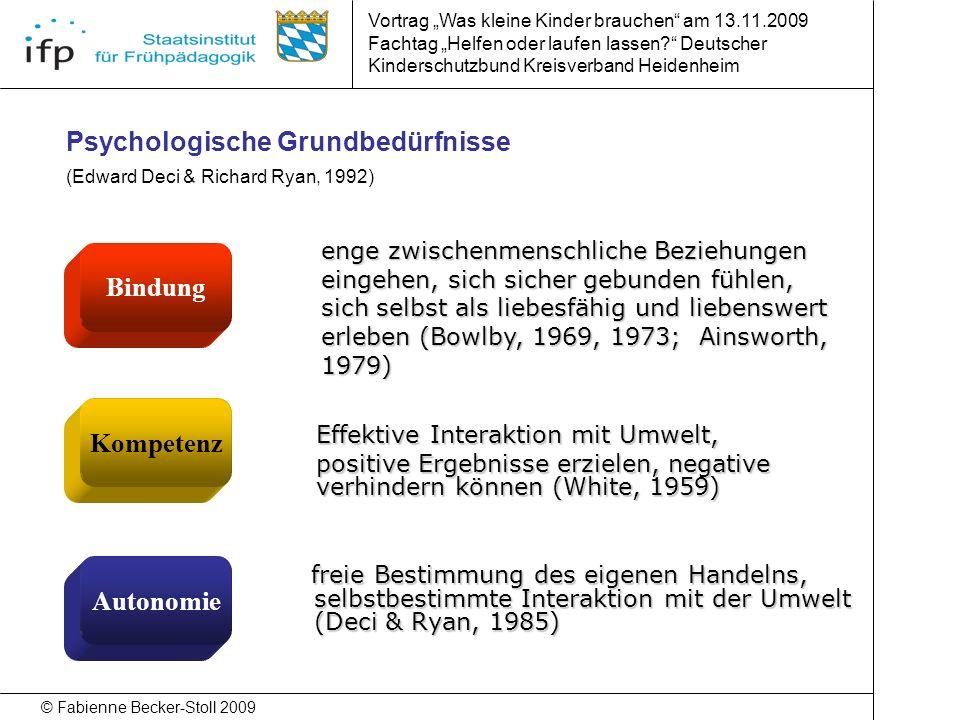 Psychologische Grundbedürfnisse (Edward Deci & Richard Ryan, 1992)