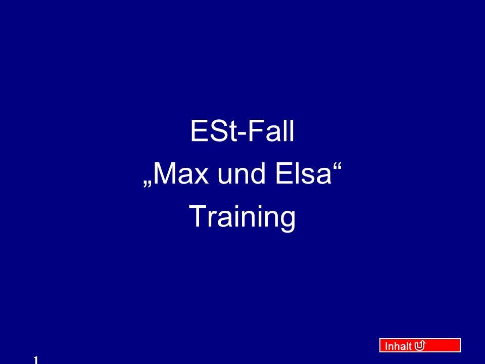 """ESt-Fall """"Max und Elsa Training"""