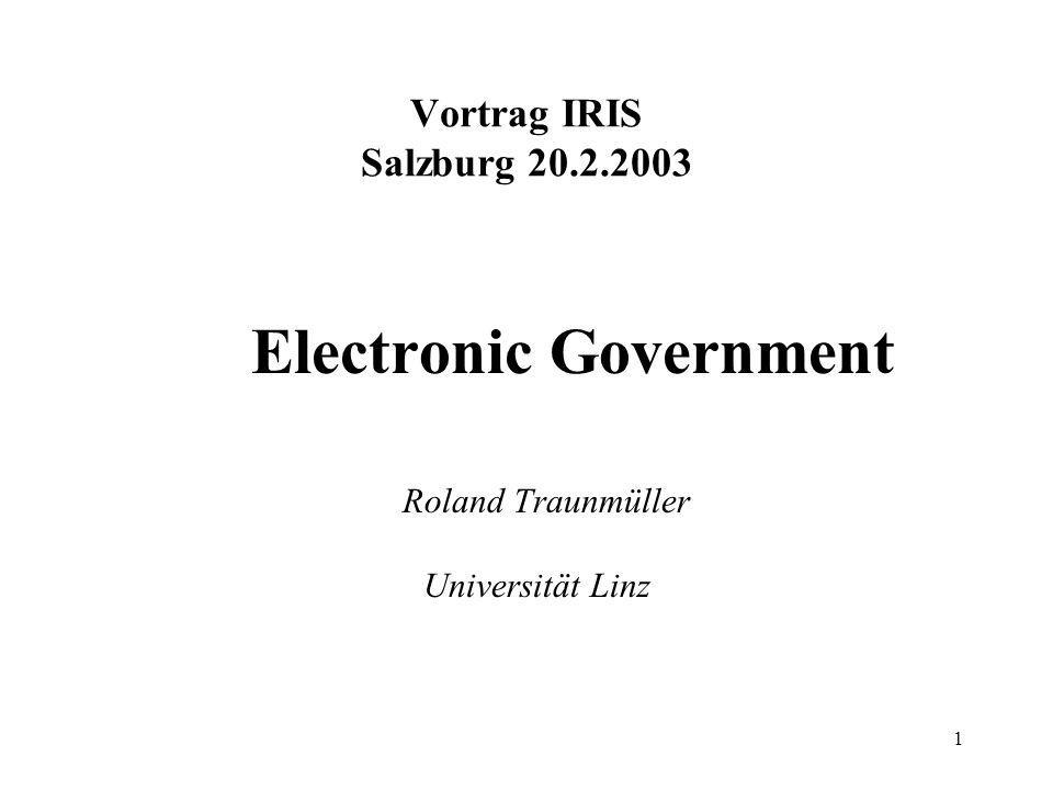 Electronic Government Roland Traunmüller